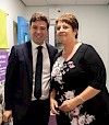 Andy Burnham and Chris Krastins. Photo by Kerry Hargreaves Photography
